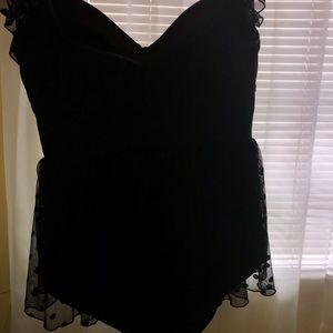 torrid Swim - Black Lacy Torrid Swimsuit